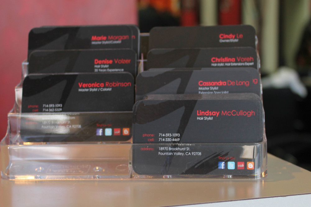 Salon Fuzion Business Cards