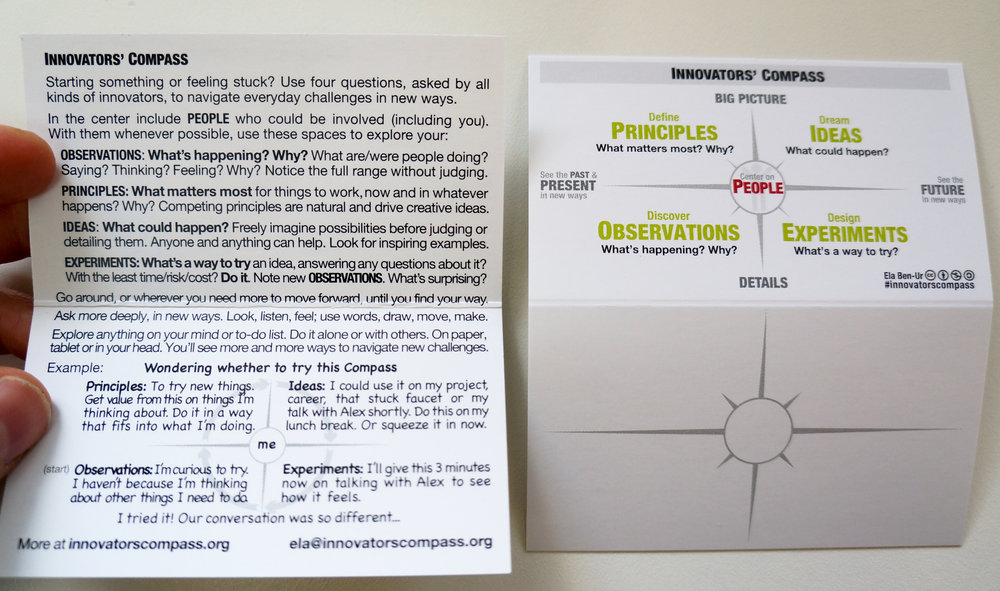 Pocket Compass card