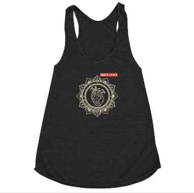 Special Edition Mandala Heart Women's Racerback Triblend Tank Top (more colors) $20  BUY