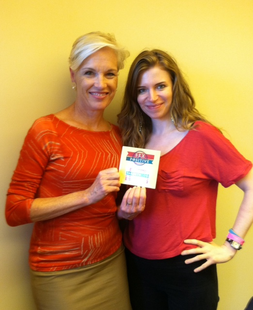 Cecile Richards, President of the Planned Parenthood Federation of America, and Alicia in 2012