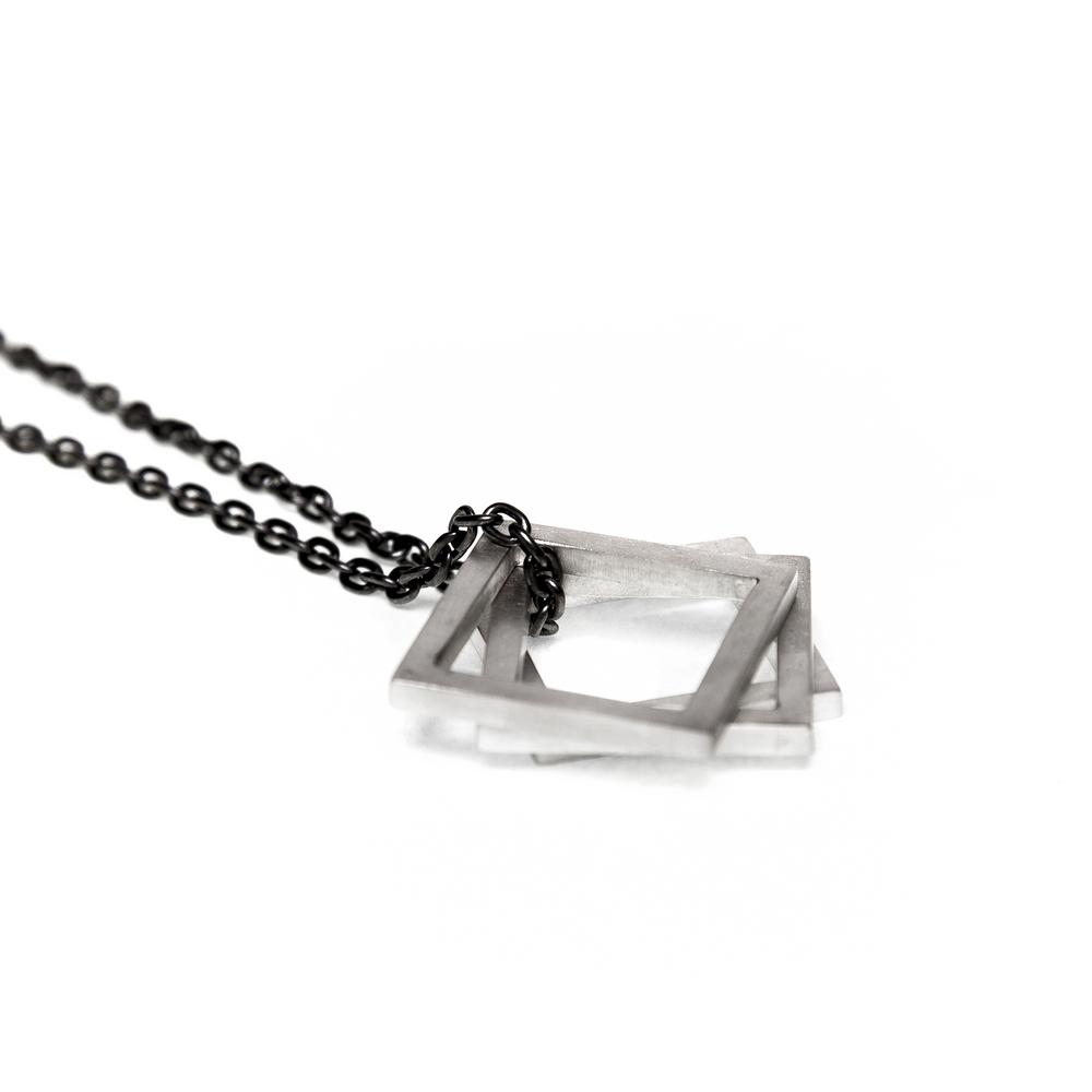 Three Squares Necklace