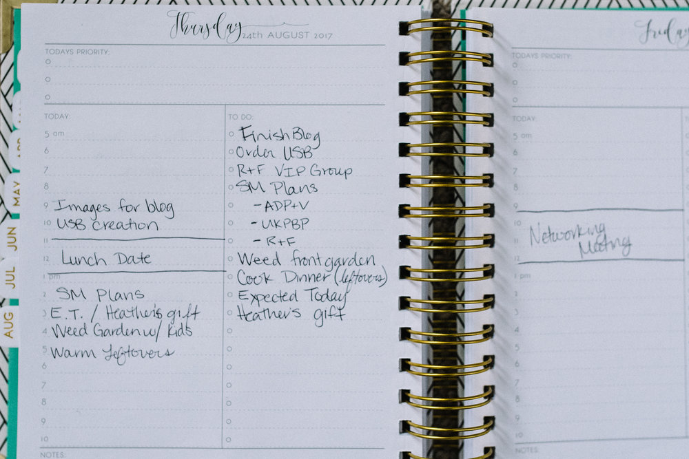 weekly planner, time blocking, to do list, being productive, staying organized