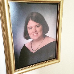 Here's a visual..My senior photo..It made my mom happy.