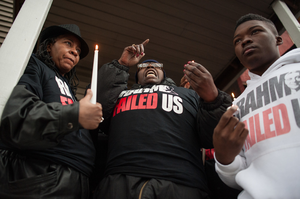 "Police shot and killed Quintonio LeGrier on December 26 while the 19-year-old was in the midst of an ""emotional problem."" (William Camargo/City Bureau)"