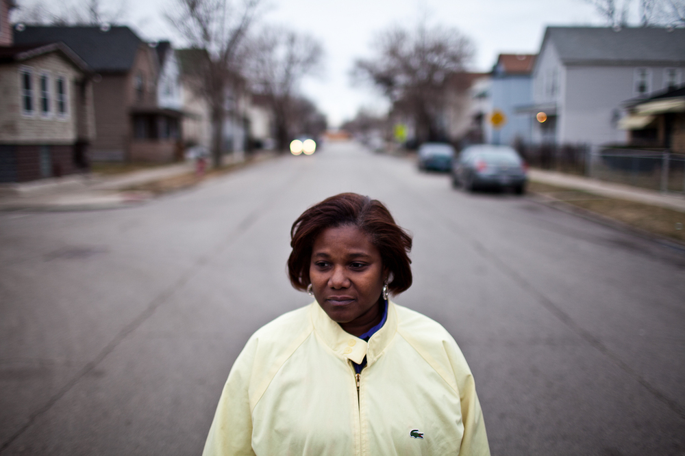 Gwendolyn Moore's son Jamaal was fatally shot by police in 2012. She says his reputation was sullied by misinformation about the circumstances of his death. (Jonathan Gibby/City Bureau)