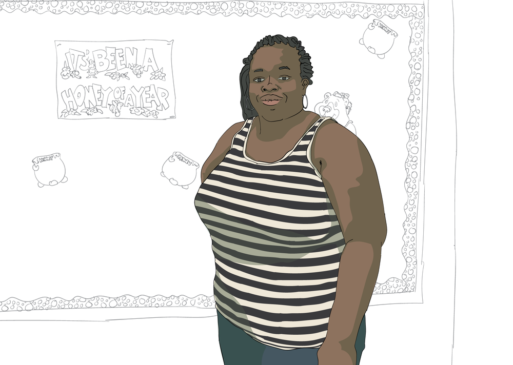 Ebony Mosley, illustration by Dan Rowell/Chicagoist