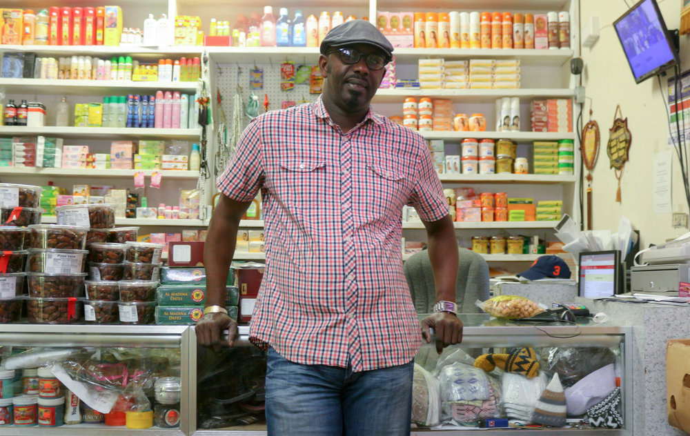Alioune Diagne, owner of Mandela African Caribbean Grocery (Sarah Conway)