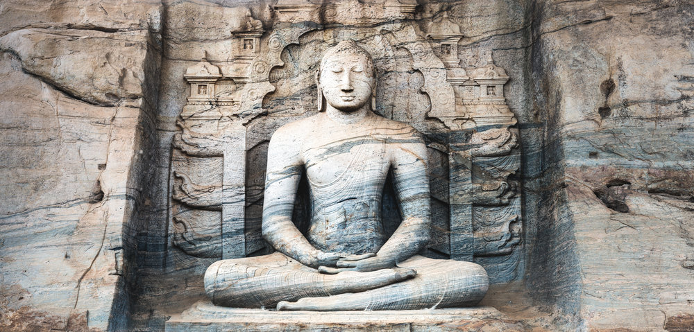 SEATED IMAGE OF GAL VIHARA | SRI LANKA
