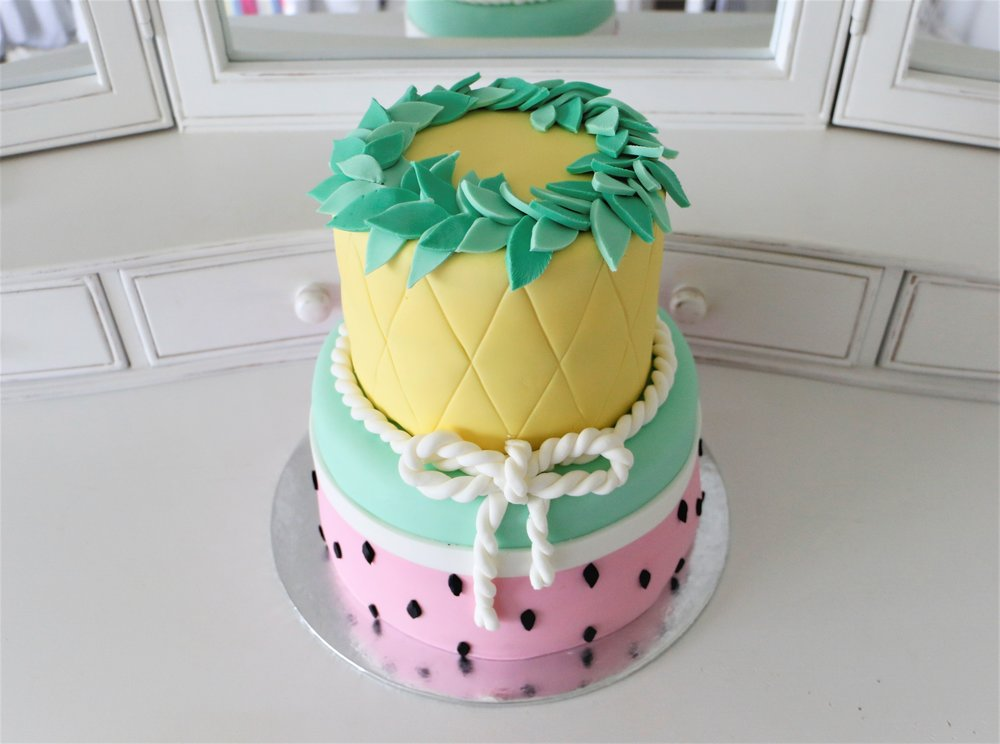 Two Tier Aloha Cake