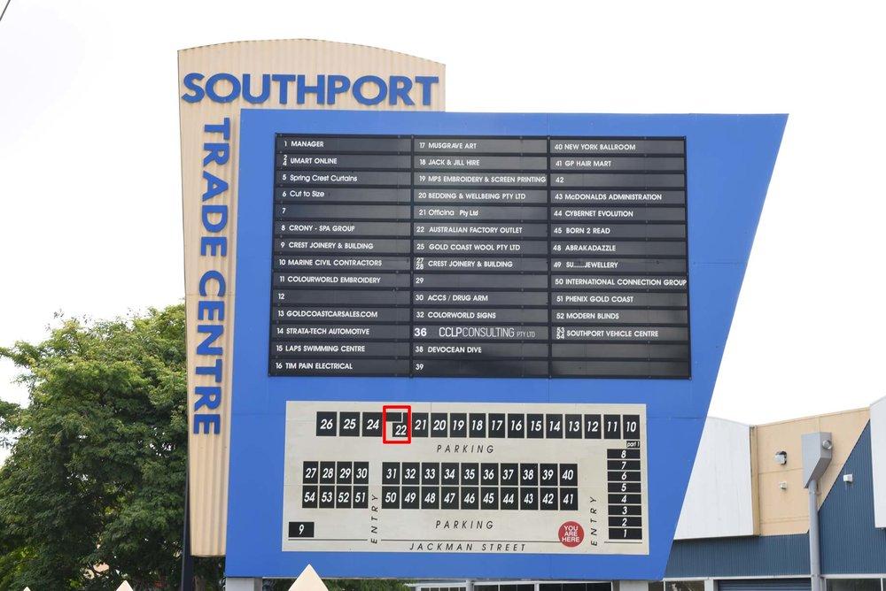 centre sign board - Lot 22