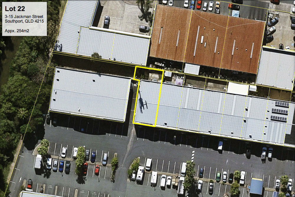 Satellite view of Lot 22