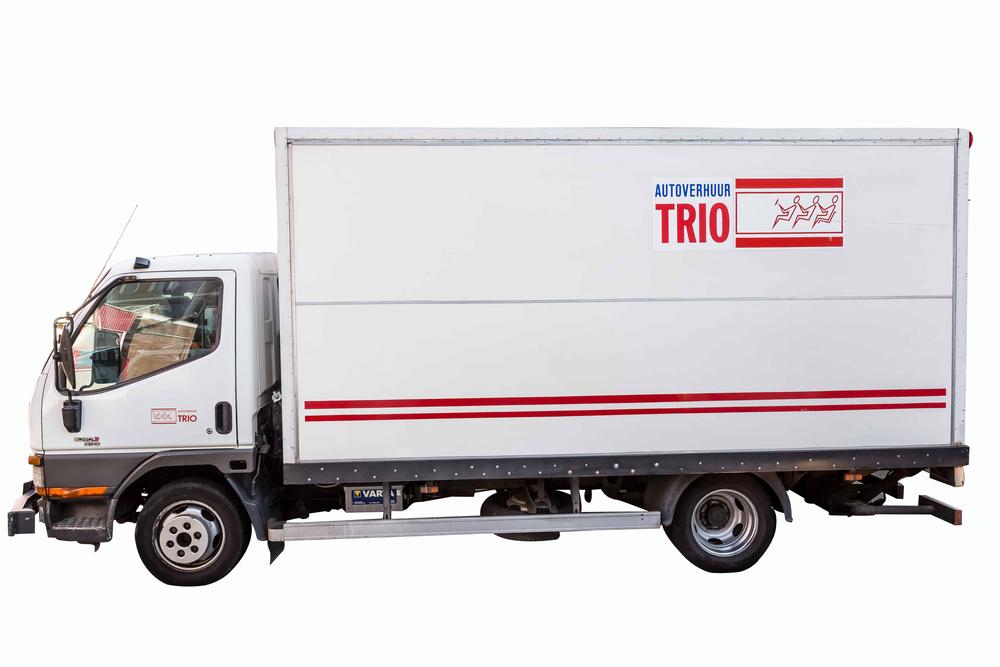 Autoverhuur Trio gesloten laadbak 12m3 t/m 19m3