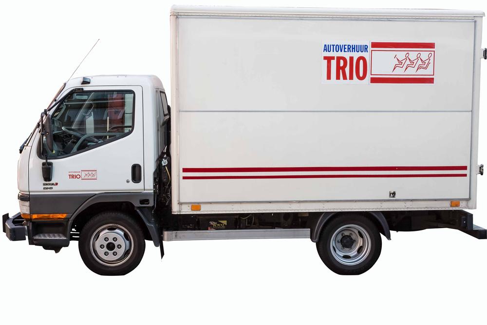 Autoverhuur trio gesloten laadbak 9.5m3