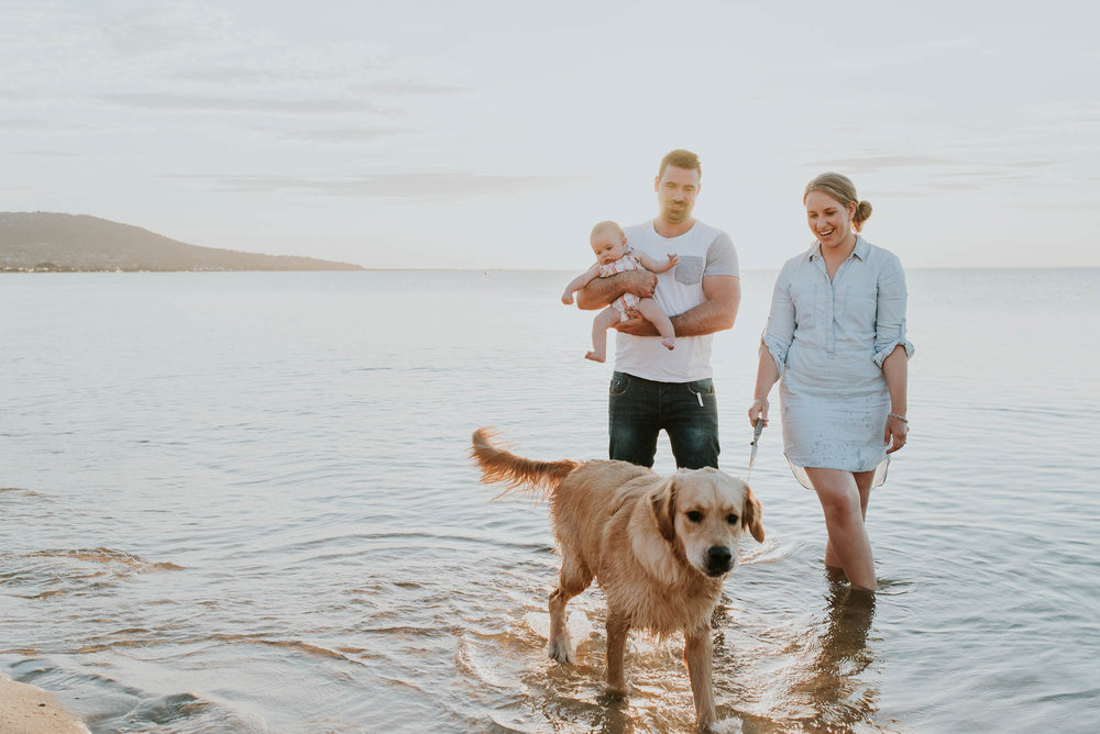 melbourne_family_photographer_family_walking_together_at_the_beach_at_sunset.jpg