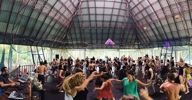 Ecstatic dance every Sunday morning!  #pyramidyogacenter #pyramid #kohphangan #thailand #ecstaticdance