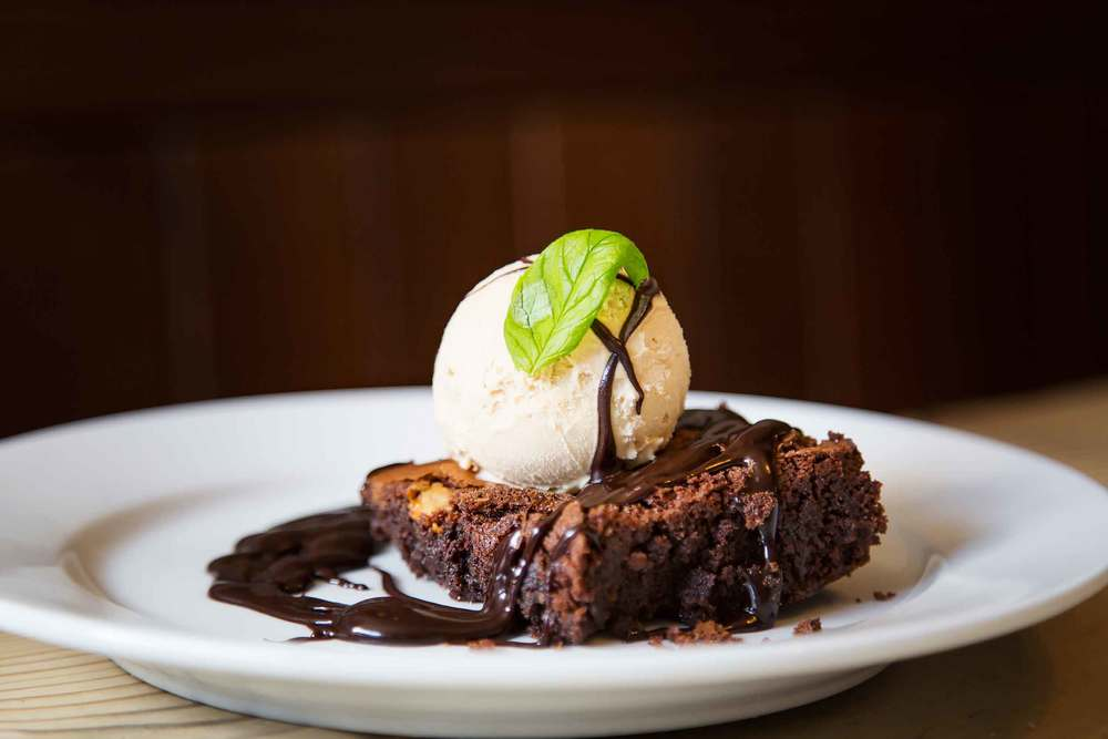 Our double chocolate  Brownie