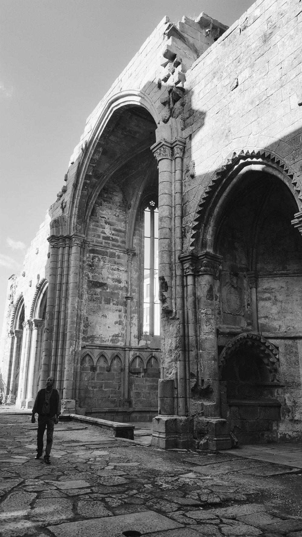 Ruins of Santo Domingo in Pontevedra