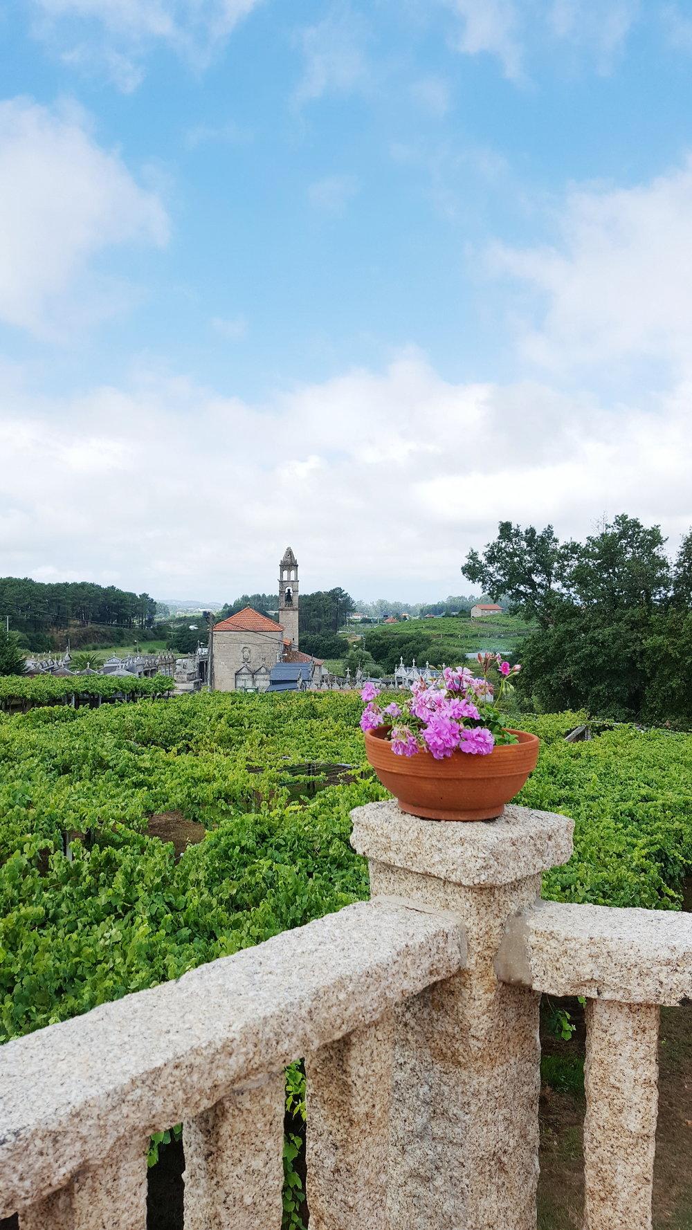 Home porch in San Marino de Meis, Pontevedra