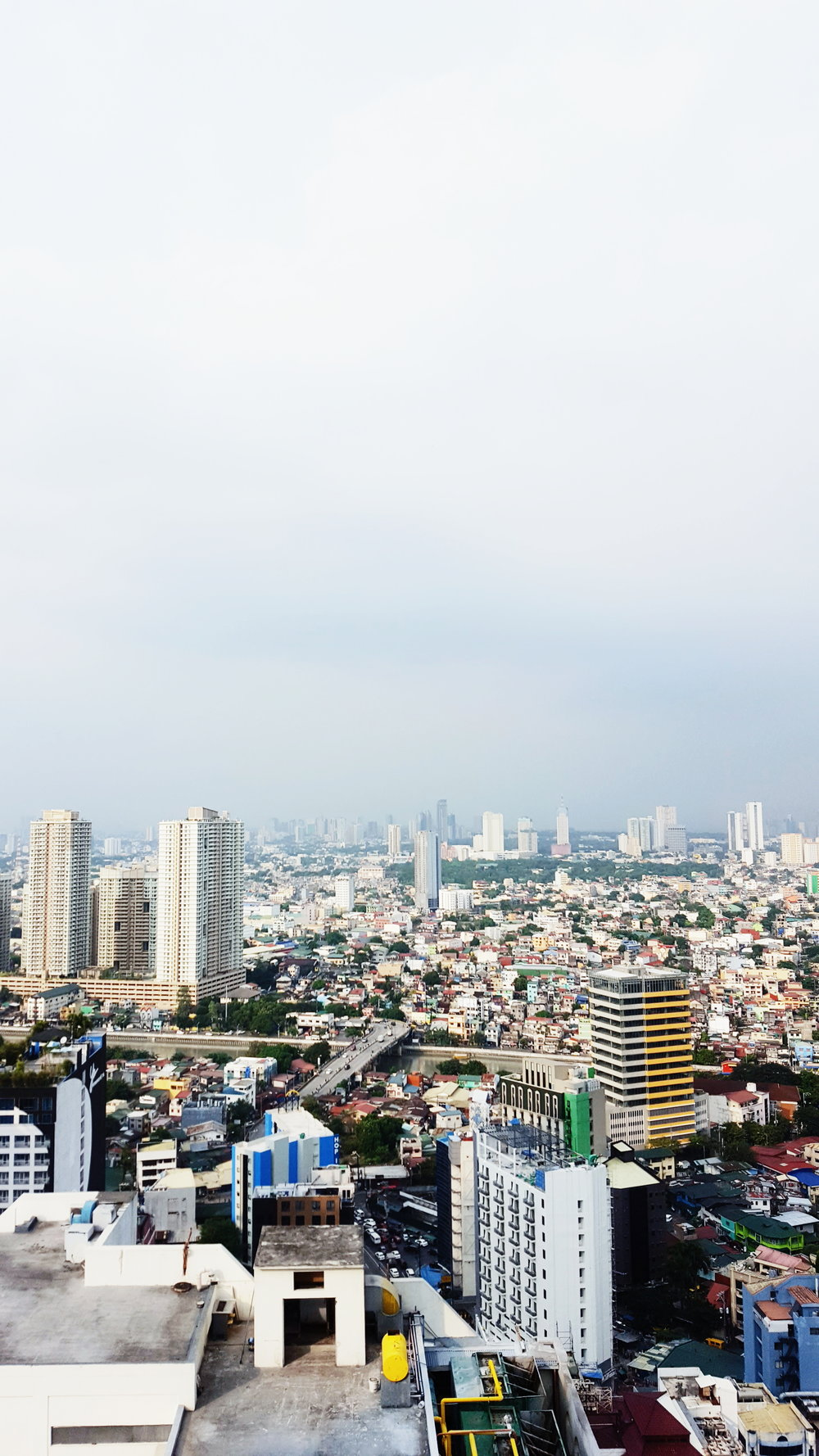 View of Metro Manila from Garden City Grand Hotel