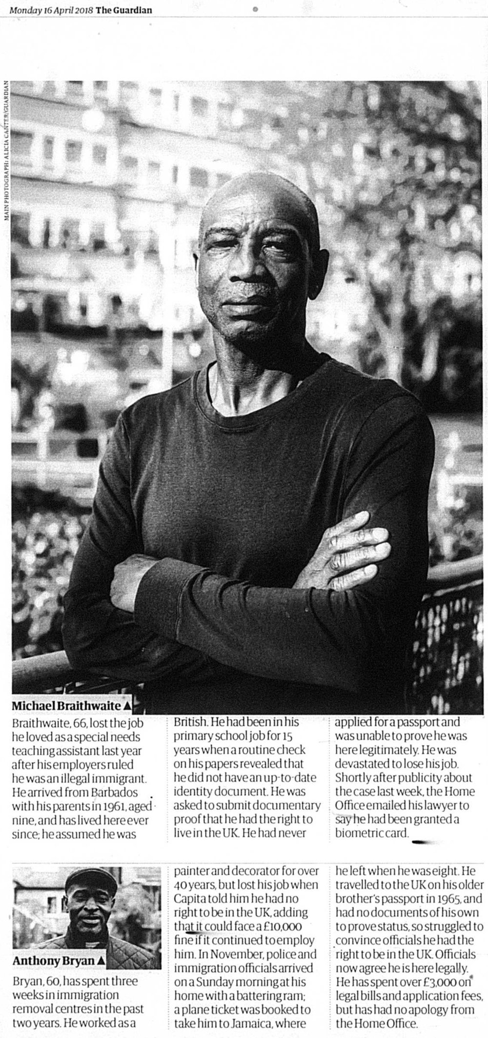 - In 2018 it emerged that, despite the fact that they had come to the UK legally many decades before, many members of the Windrush Generation were being asked to prove their status. If they could not produce the right records, these people were being wrongly detailed, denied their rights and sometimes deported.This article, 'Talks rejected on 'shameful' treatment of Windrush generation' depicts some of these people's stories.Author: Amelia GentlemanThe Guardian; London (UK), 16 April 2018: 1, 12-13© Guardian Newspapers Limited Apr 16, 2018