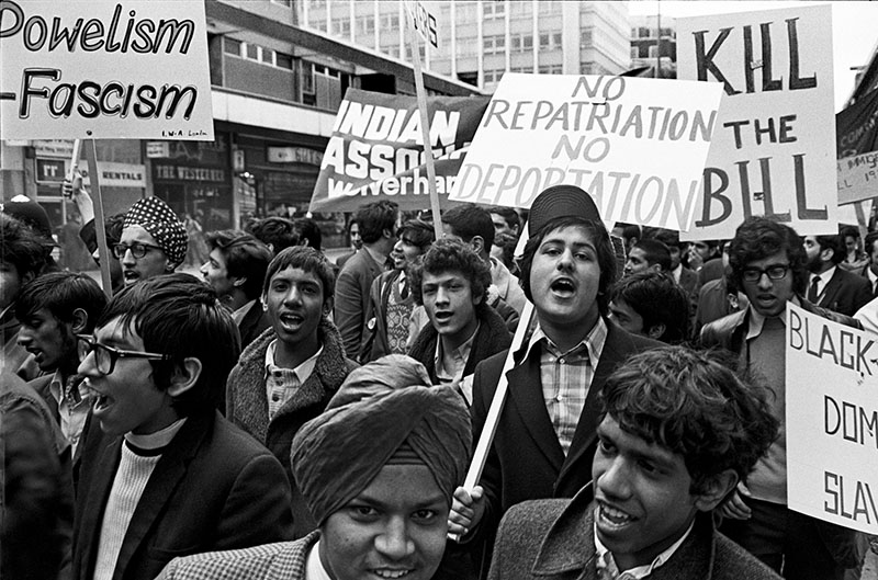 - In 1971 the UK passed a new immigration act which added to the previous acts in 1962 and 1968 to further restrict immigration to the UK.This photo depicts young people with the Indian Workers Association marching in London against the 1971 Immigration Act. The photo was taken on 21st March 1971© Peter Arkell/reportdigital.co.uk