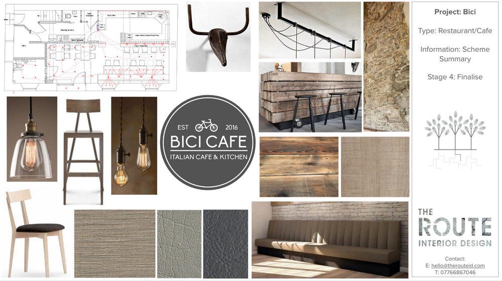 Bici Cafe Interior Design