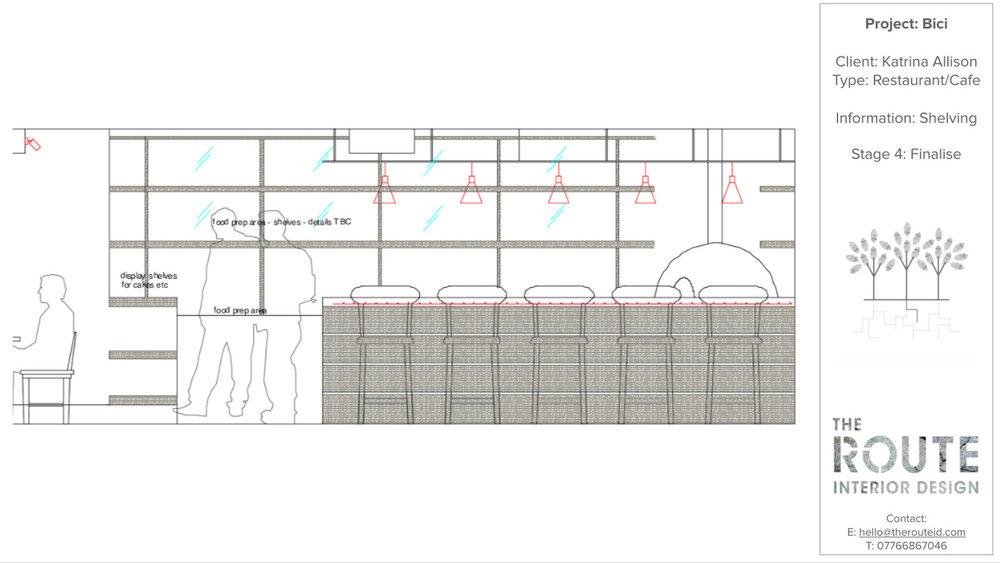 CAD Drawing Elevation - Bar Design