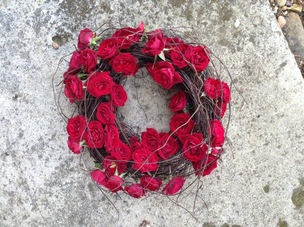 Biodegradable Rose Wreath Knebworth House.jpg