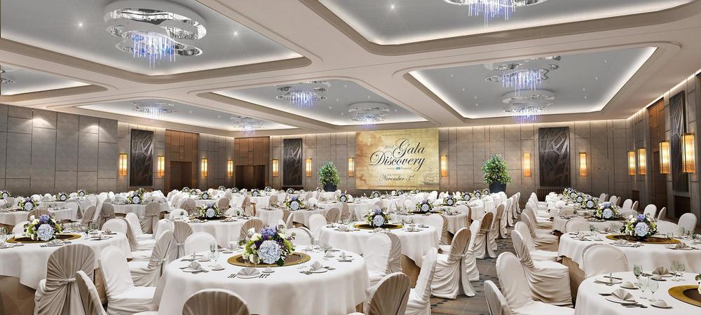 1000 sq. metre ballroom - visualisation