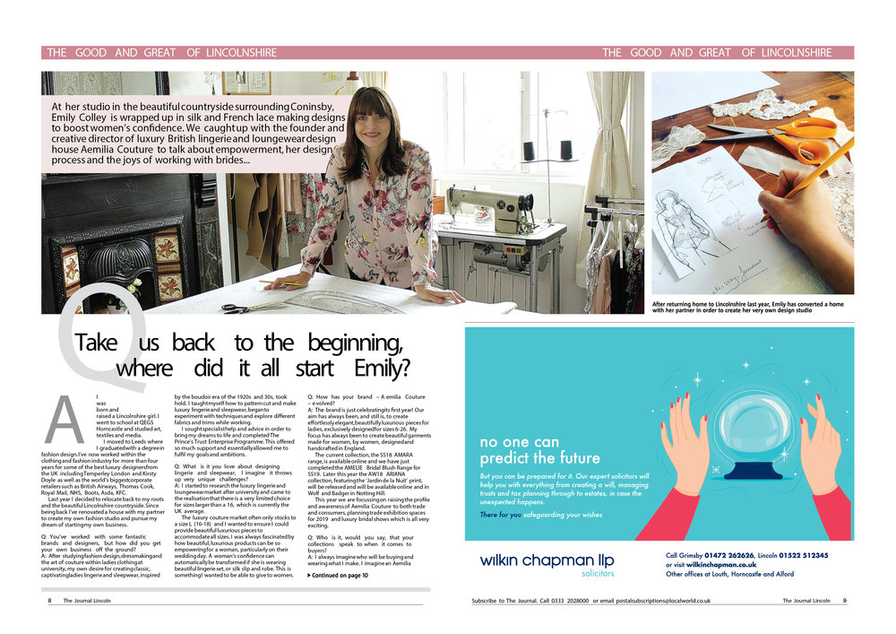 PRESS FEATURE THE JOURNAL LINCS