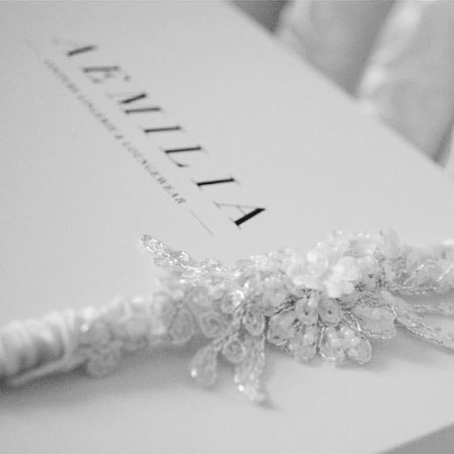 "Handmade beautiful garters, with Swarovski crystals and intricate beading... why not add a small blue gem for your ""something blue""? 