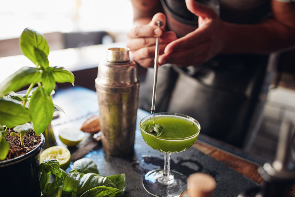 Gin Basil Smash Barkeeper Frankfurt TigerChef