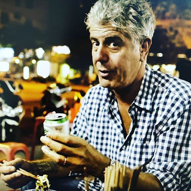 Anthony, you are the biggest lover of Vietnam. Our lasting image of you is you sitting in an alley in Vietnam on a plastic stool eating pho. You are a legend. The biggest food and adventure inspiration to us. So when traveling: Always follow the path of food.... #phosoup #ripbourdain #legendsneverdie #legend #leshallesnyc #vietnamesefood