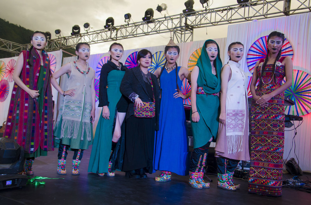 Designer Chimmi Choden with her models