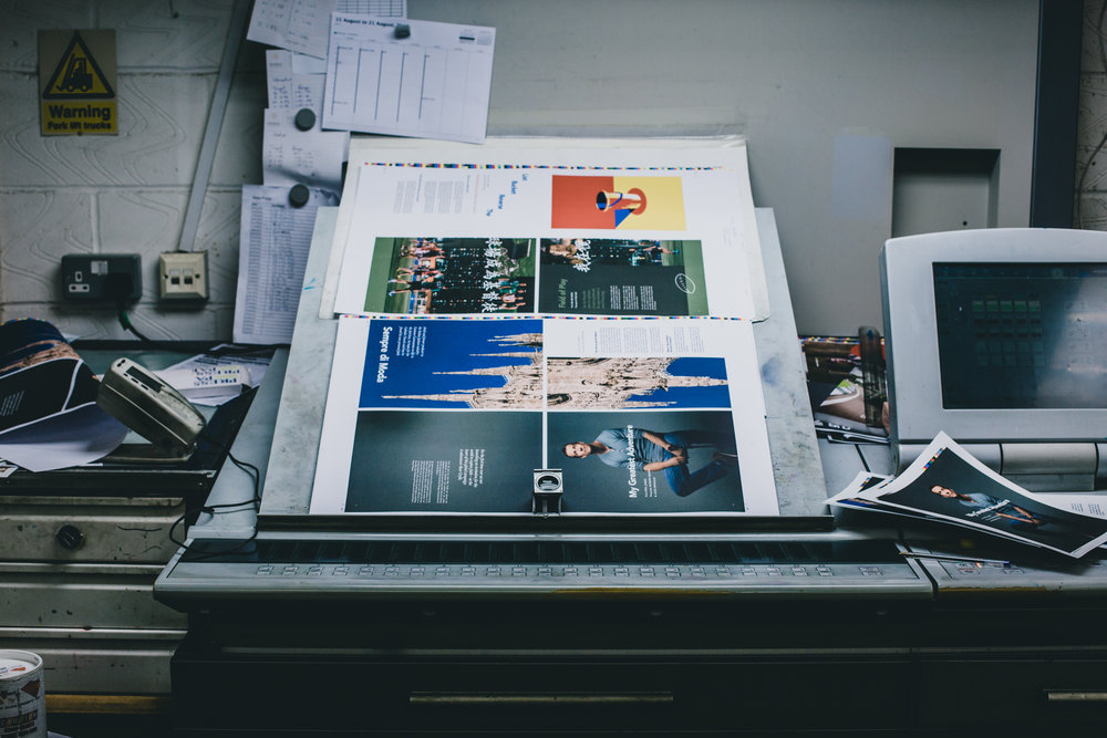 Getting ready for print in the UK.