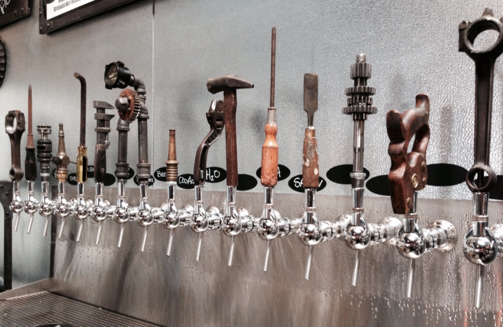 Toolbox Brewing Co. recycled tool tap handles