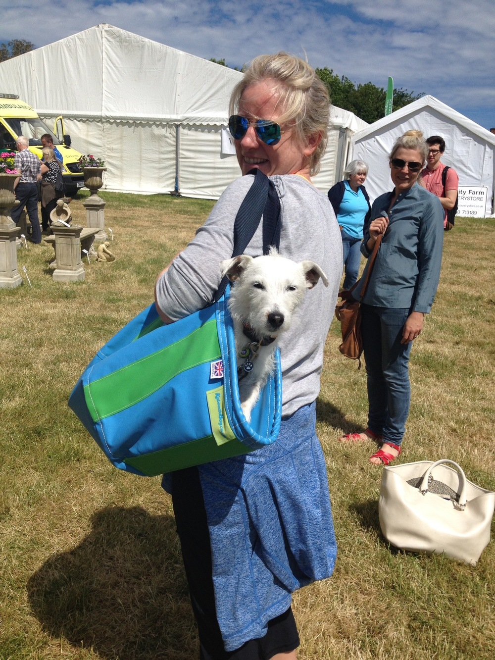A tired visitor at the Wealdon Times fair