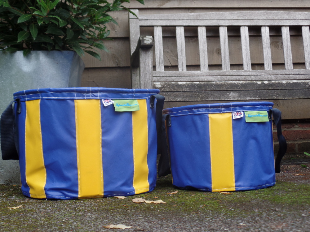 Navy Blue & Yellow large and small