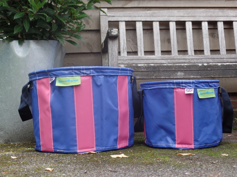 Navy Blue & Pink large and small