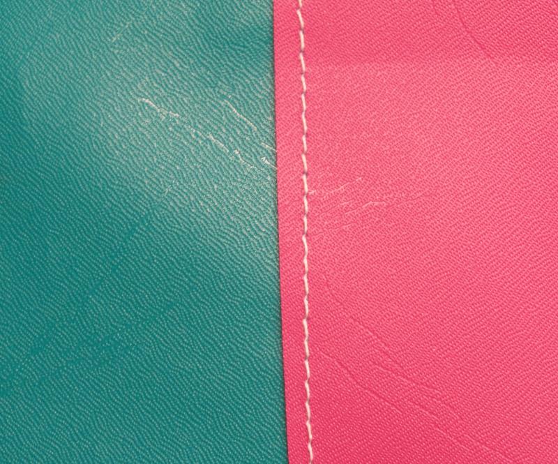 Aqua with Pink stripe
