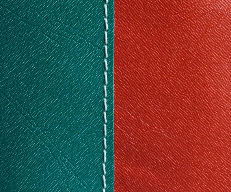Dark Green with Red stripe