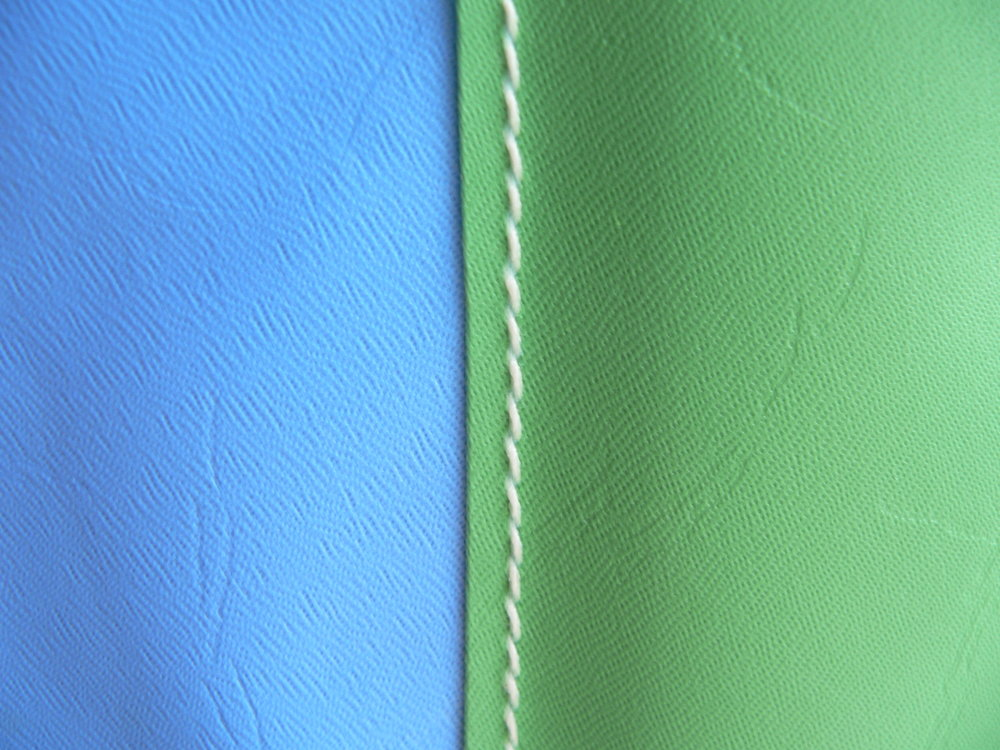 Turquoise with Lime Stripe