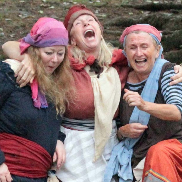 Vivienne Martin, Janette Deacon & Sue Ashforth-Smith as the fishwives, Pilchard, Haddock & Bloater
