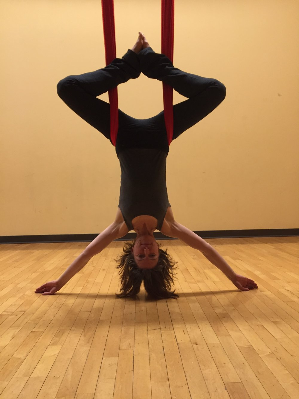 Inversion - release the spine with gravity.