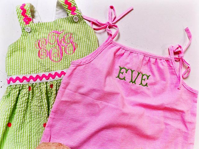 💚💕💚 how cute would your little one look in these this spring?! ••••• #oconnorinc #monogram #embroidery #apparel #pink #love #ff #instafollow #l4l #tag4likes #followback #followme #ootd #instagood #photooftheday #charleston #sc #shoplocal #livelocal #customizeit #southern #spring #happy #littleones