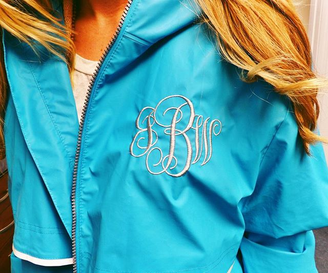 ☔️ or ☀️ we've got you covered! Get your raincoat #monogrammed today! ••••• #oconnor #ff #instafollow #l4l #tag4likes #followback #followme #love #ootd #rainyspring #charleston #sc #love #instagood #local #shopsc #charleston #preppy #southern #style #embroiderysc #bestofthebest #academyawards