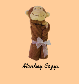 Monogrammed personalized baby gifts charleston sc oconnor monkey baby cozy negle Gallery