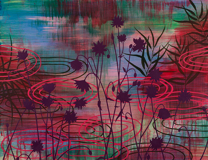 Wetland 63 , Acrylic on paper, 19 x 24""