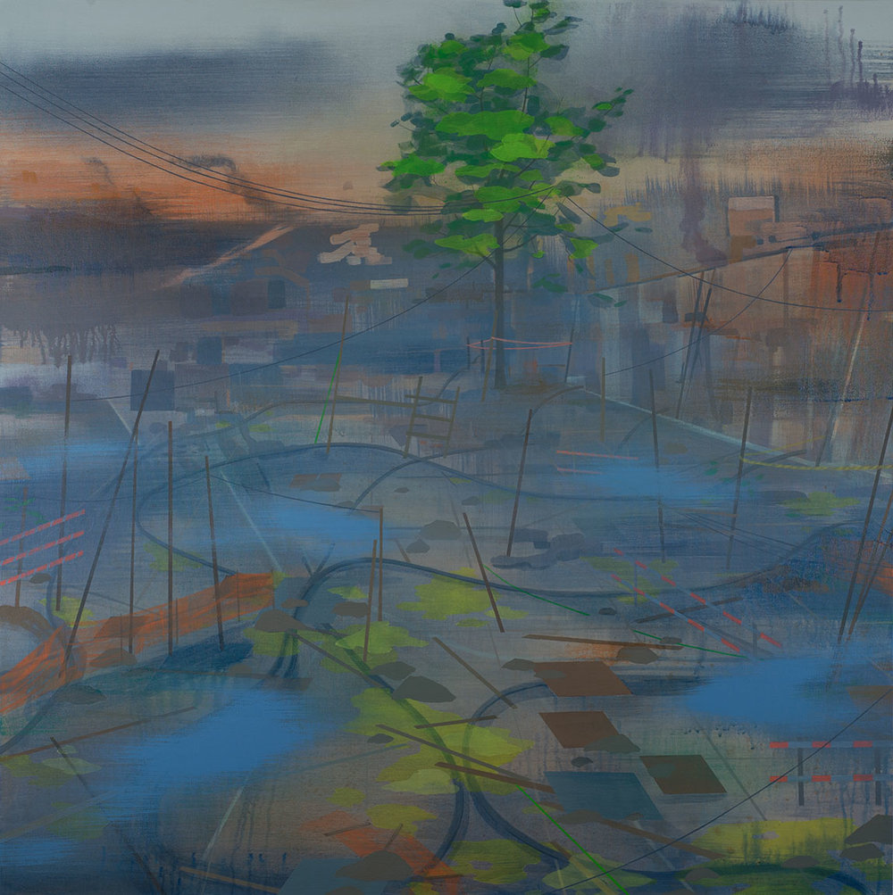 "Remainder   Acrylic on canvas 42 x 42 x 1.5"""