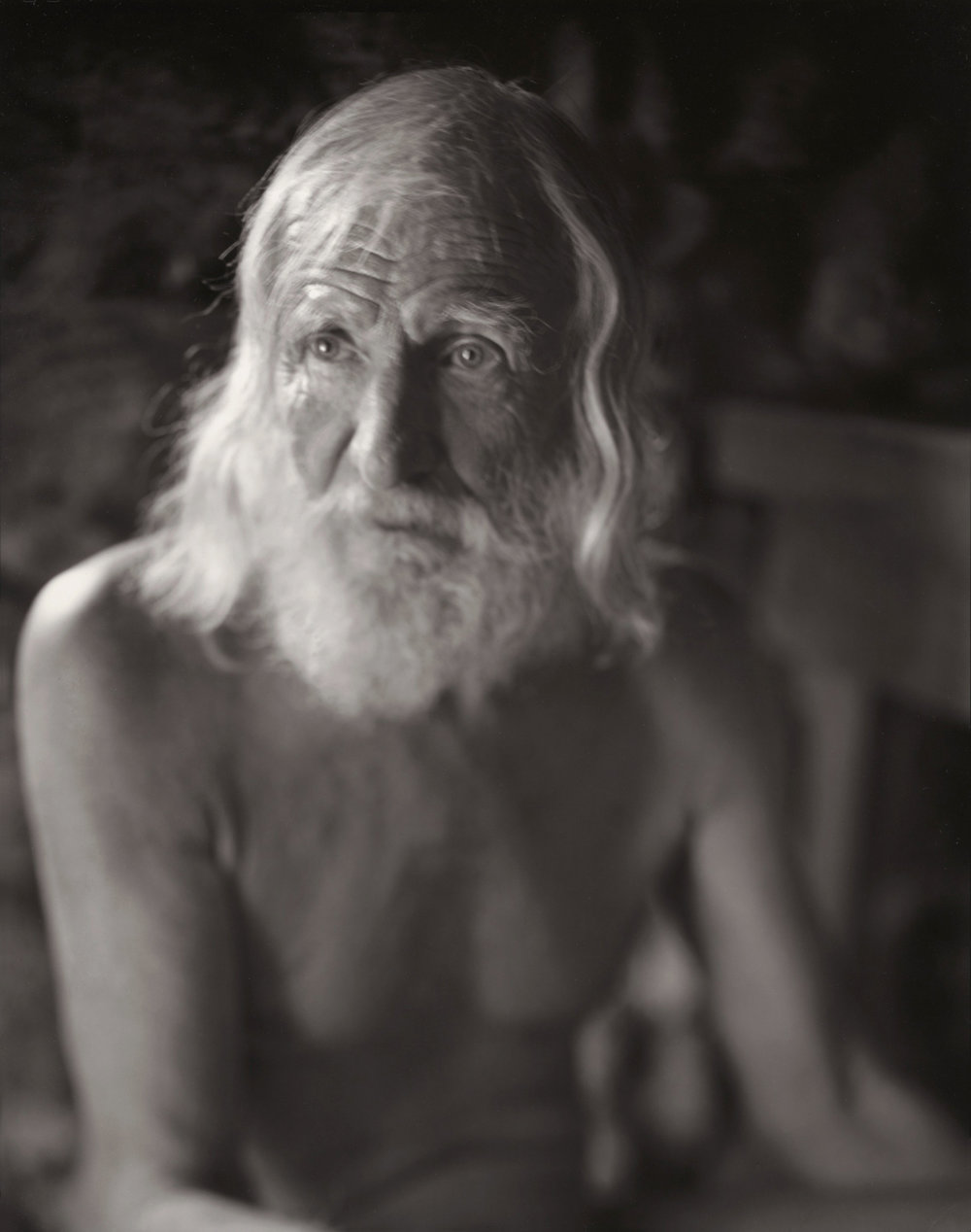 Walter Chappell, El Rito, 1997   My first photograph with the 8 x 10 view camera